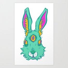 Three-eyed Hare Art Print