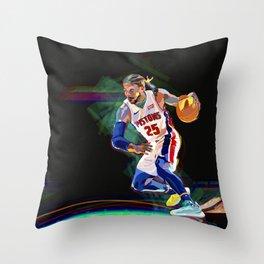 Detroit Basketball Star D. Rose / Slam Dunk / Art Print Throw Pillow