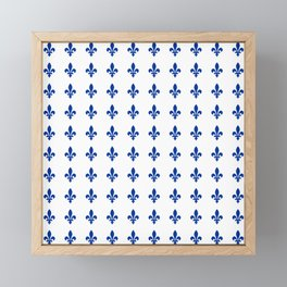 Blue Fleur De Lis Print Framed Mini Art Print