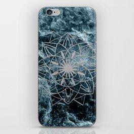Star Mandala on Enigmatic Deep Blue Ocean Marble #1 #decor #art #society6 iPhone Skin
