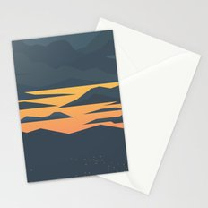 Evening lights Stationery Cards