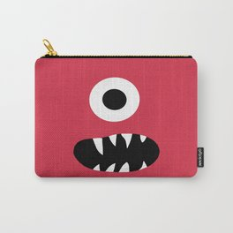 Kids Silly Red One Eyed Monster Carry-All Pouch