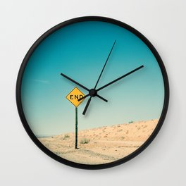 END Road Sign Wall Clock
