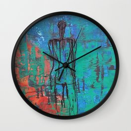 Wall art on canvas, Original abstract acrylic painting, Large wall art canvas, Modern Abstract Paint Wall Clock