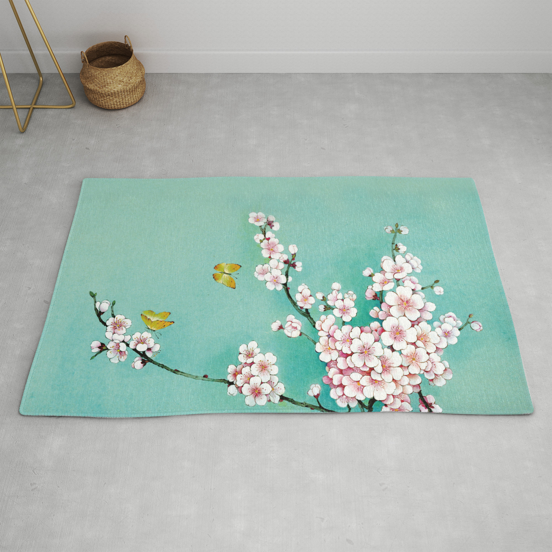 Dreamy Cherry Blossom Rug By