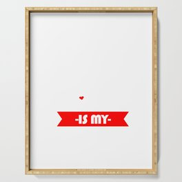 My Dog Is My Valentine Cupid Love Rescue Dog Pet Owners Animal Lovers Gifts Serving Tray