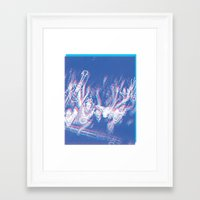 concert Framed Art Prints featuring CONCERT by TOO MANY GRAPHIX