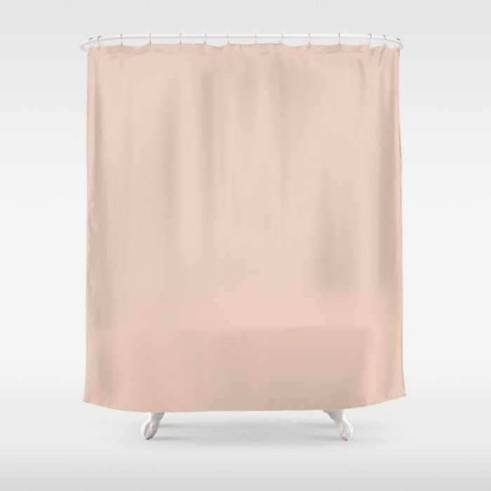 Solid Vintage Rose Pink Shower Curtain