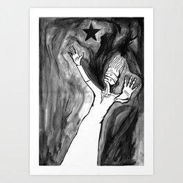 Lazarus 3 - Bowie Blackstar tribute, version Art Print
