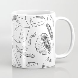 Baking Supplies Toile Coffee Mug