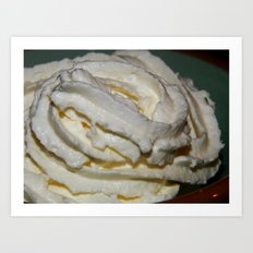 Whipped cream - toddlers delight! Art Print