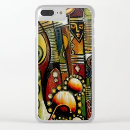 Talking Drum Clear iPhone Case