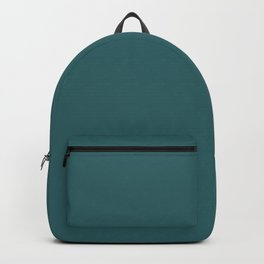 Solid Color DARK TEAL Backpack