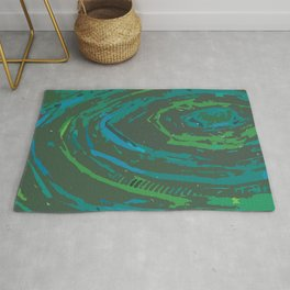 Coiled Greens & Blues Rug