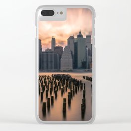 New york city long exposure Clear iPhone Case