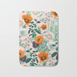 Wildflowers #pattern #illustration Bath Mat