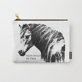 RUN WILD BE FREE Carry-All Pouch