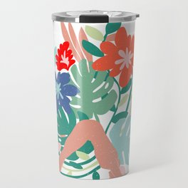 naked asana Travel Mug