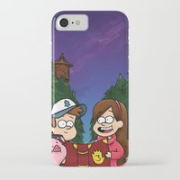 gravity falls iPhone & iPod Cases featuring Gravity Falls by toibi