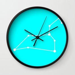 Leo (White & Cyan) Wall Clock