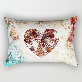 Vintage Heart Abstract Design Rectangular Pillow
