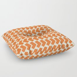 Orange Geometric Pattern Retro Print Floor Pillow