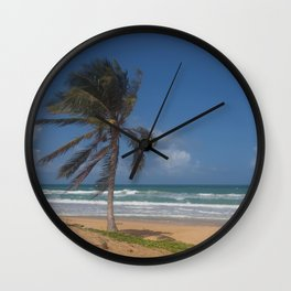Karon Beach palm tree Wall Clock
