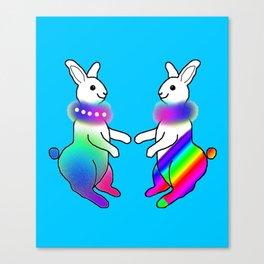 Rainbow Rabbit Canvas Print