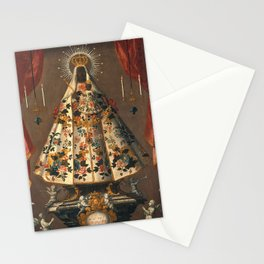 Black Madonna Mexican Painting, 1745 Stationery Cards