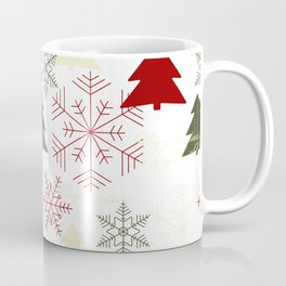 Christmas pattern with gift boxes and snowflakes. Coffee Mug