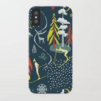 skiing iPhone & iPod Cases featuring Retro Skiing  by beach please