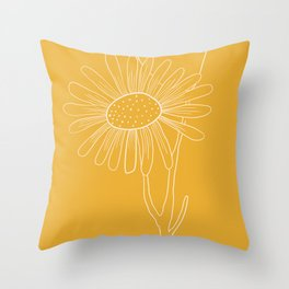 Floral Study In Yellow Throw Pillow