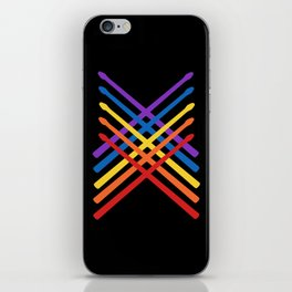 Retro Musician Drum Sticks iPhone Skin