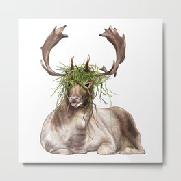 Derp Deer Metal Print