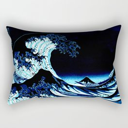 the Great Wave Blue Rectangular Pillow