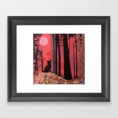 wolf (aka lycanthropy in pink) Framed Art Print