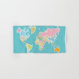 Map Print Hand & Bath Towel