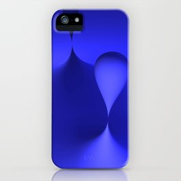 the color blue iPhone Case