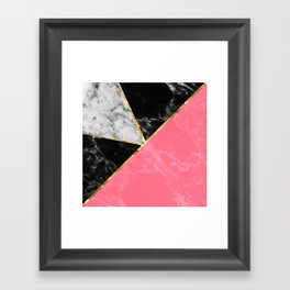 Marble color collection geometric abstract design Framed Art Print