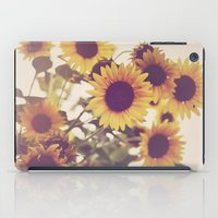 sunflowers iPad Cases featuring Sunflowers by elle moss