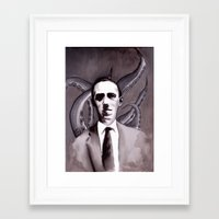 cthulu Framed Art Prints featuring Shuddering At The Nameless Things by Zombie Rust