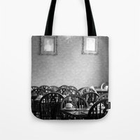 cafe Tote Bags featuring Cafe by J. Ann Photography