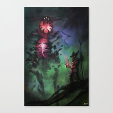 Summoning Black magic Canvas Print