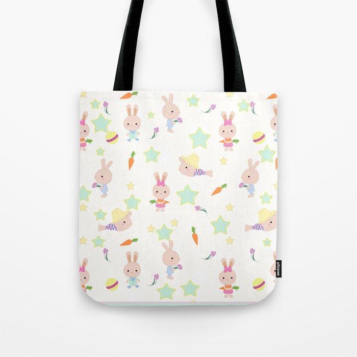Funny bunnies, cute cartoon characters Tote Bag