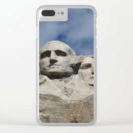 George Washington And Thomas Jefferson  - Mount Rushmore Clear iPhone Case