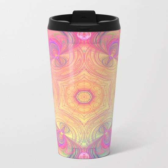 Psychedelic Kaleidoscope Metal Travel Mug