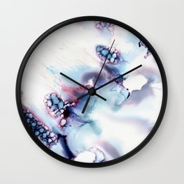 Alien Repose Bubble Storm Abstract Wall Clock