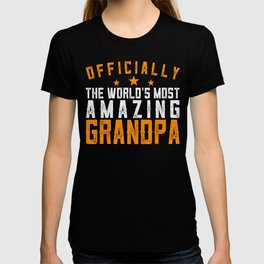 Officially Amazing Grandpa Fathers Day Gift Idea T-shirt