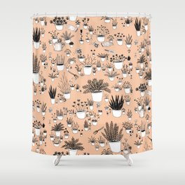 Potted plants Shower Curtain