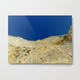 At the bottom of the cliff Metal Print